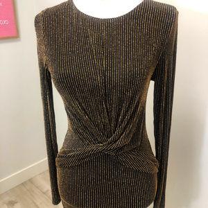 Michael Kors Metallic striped dress (S) NWOT